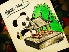 Dino and Panda Thanks you by MelodicInterval