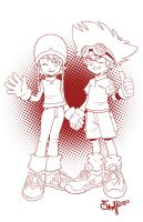 Tai and Sora by RyanJampole