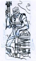 Droid Hunt: pencil and ink by grantgoboom