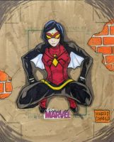 Spider Woman sketch card artist proof by mdavidct