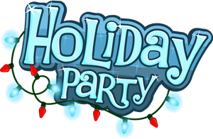 Club Penguin Holiday Party 2012 - Logo by Elliott-Lee-Blogger