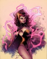 Scarlet witch by Aethibert Colors by GiuliaPriori