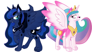 Luna and Celestia by Usagi-Zakura