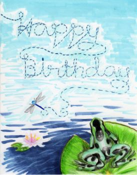 Froggy Birthday by Moonstar10