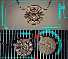 Heart of Iron - Ironman Arc Reactor Pendant by soupcan13