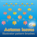 Autumn Leaves Illustrator brushes by flashtuchka