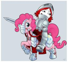 Ruby and Pinke head to war by R-i-Perils