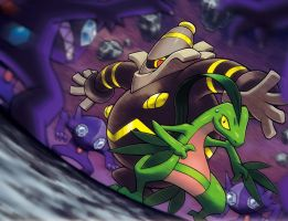 Grovyle and Dusknoir Surrounde