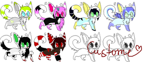 4 point adoptables :OPEN: by zecchou