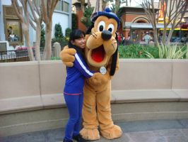 I'm hugging Pluto the Dog photo 1 by Magic-Kristina-KW