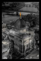 Golden Isolation - Dresden HDR by ceasetobeme