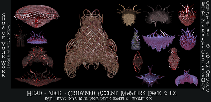 Head Extravagance Pack 2 by ArtwithoutabrushFx