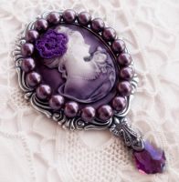 Cameo and Pearls Brooch by Aranwen