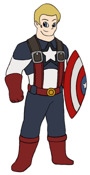 Marvel Revisited - Captain America by Gaiash