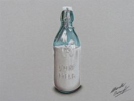 Bottle of Milk DRAWING by marcellobarenghi