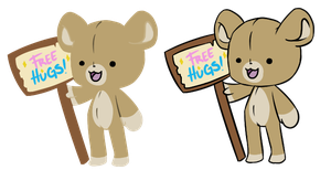 Teddy Bear Chibis, lineless and no. by Cypeo