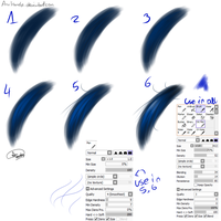 Tool Sai - Hair tutorial by AnuHanele