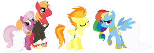 Next Generation RainbowFire & MacLee concept by Hollowolfpup