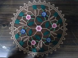 Sukura Flower Doily by koepr5333