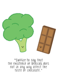 Broccoli and Chocolate by danithetimelord