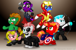 Commission:  ELEMENTALS, ASSEMBLE!! by AleximusPrime
