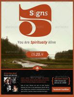 Spiritually Alive Church Flyer Template by loswl