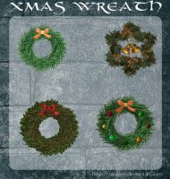 3D Xmas Wreath by zememz