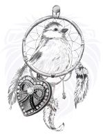 Tattoo Design: Dreamcatcher of freedom by DDesigns0
