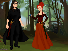 Samhain and Lilith Disney Style by YuYuAmie
