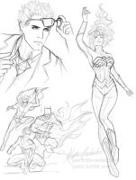 dc trinity sketches by jasric