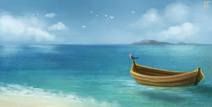 DAY 447. I'm on a boat by Cryptid-Creations