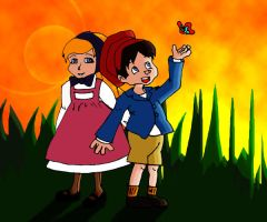 Pinocchio and Twinkle by Rowanrho