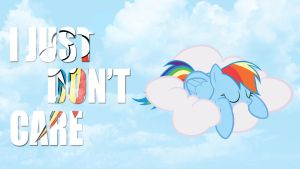 Rainbow Dash cloud wallpaper [HD] by IvantheBrony