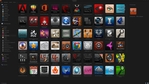 Windows 8.1 Pro Apps Part 1 (Black Mist Theme) by Agamemmnon