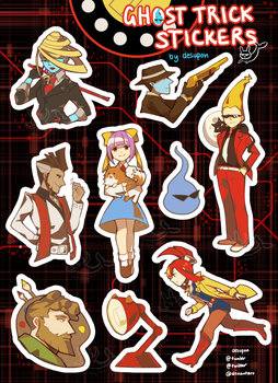 Ghost Trick Stickers by desupon