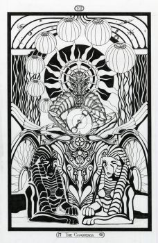 VII - The Conqueror / The Chariot - Tarot Original by InaAuderieth