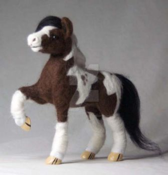 Needle Felted Horse by The-GoblinQueen