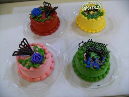 Mini Color Cakes by Nimhel
