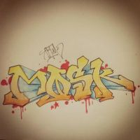 Mosk - Graffiti for my buddy by AktimTheOne