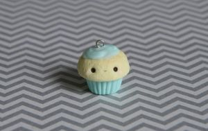 Mint Kawaii Cupcake Charm by xoxRufus