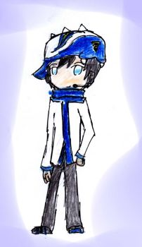 Taufan Cosplays as Kaito by HaziqI98