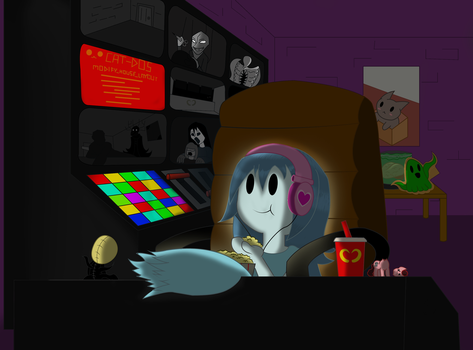 Spooky's House of Jump Scares: Enjoying the show by LordRobrainiac