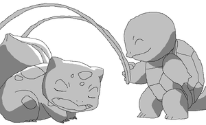 Bulbasaur and Squirtle Base by BrainyxBat