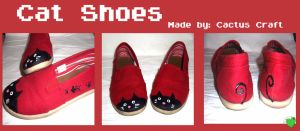 Shoes Custom: Cat Shoes by PeppermintCactus