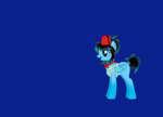 Me as a the Doctor as a pony as the TARDIS by snowwolf6