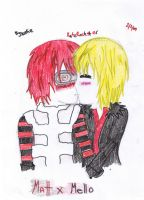 MattxMello - Kiss Me..... by KatzRockstar