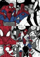 50 K Special: 3 Suits of Spidey (White) Pg 1 by haggith