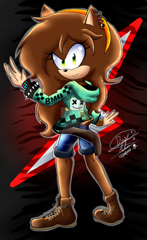 Andrea The hedgehog (Fan character of sonic) by andreaplayed12