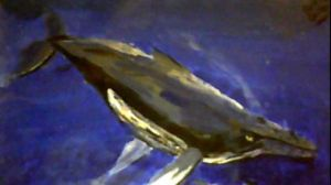 First Whale Painting by hailwhale