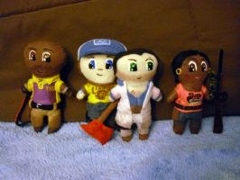 Plushie Left 4 Dead 2 Team by Pinka-Starlight